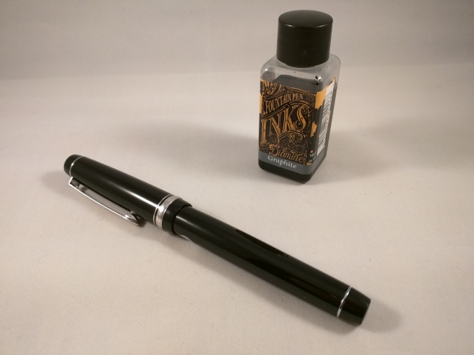 Diamine Graphite bottle and Pilot Custom Heritage 91