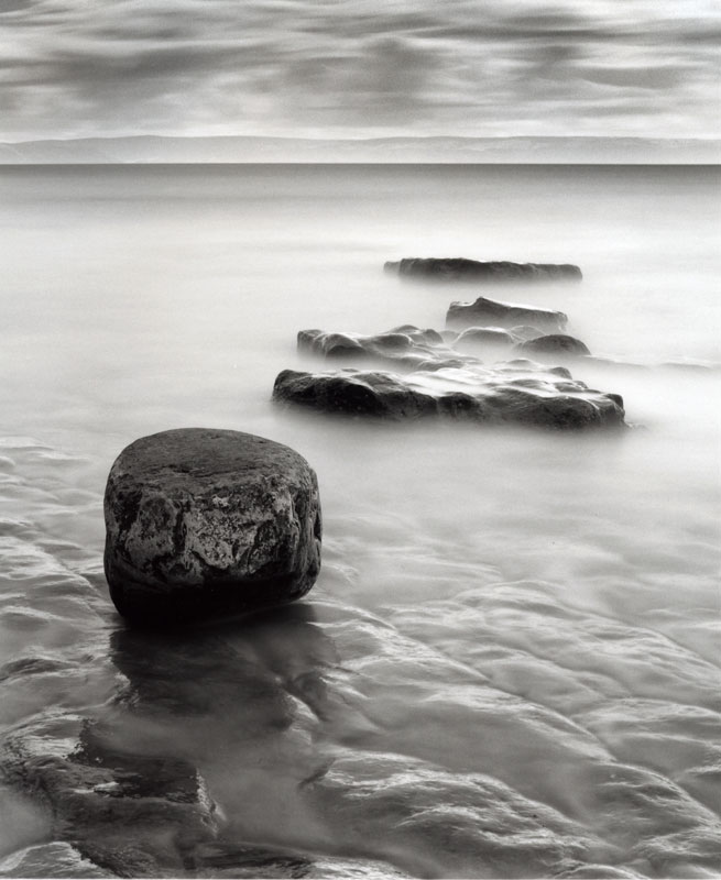 Black and white long exposure seascape
