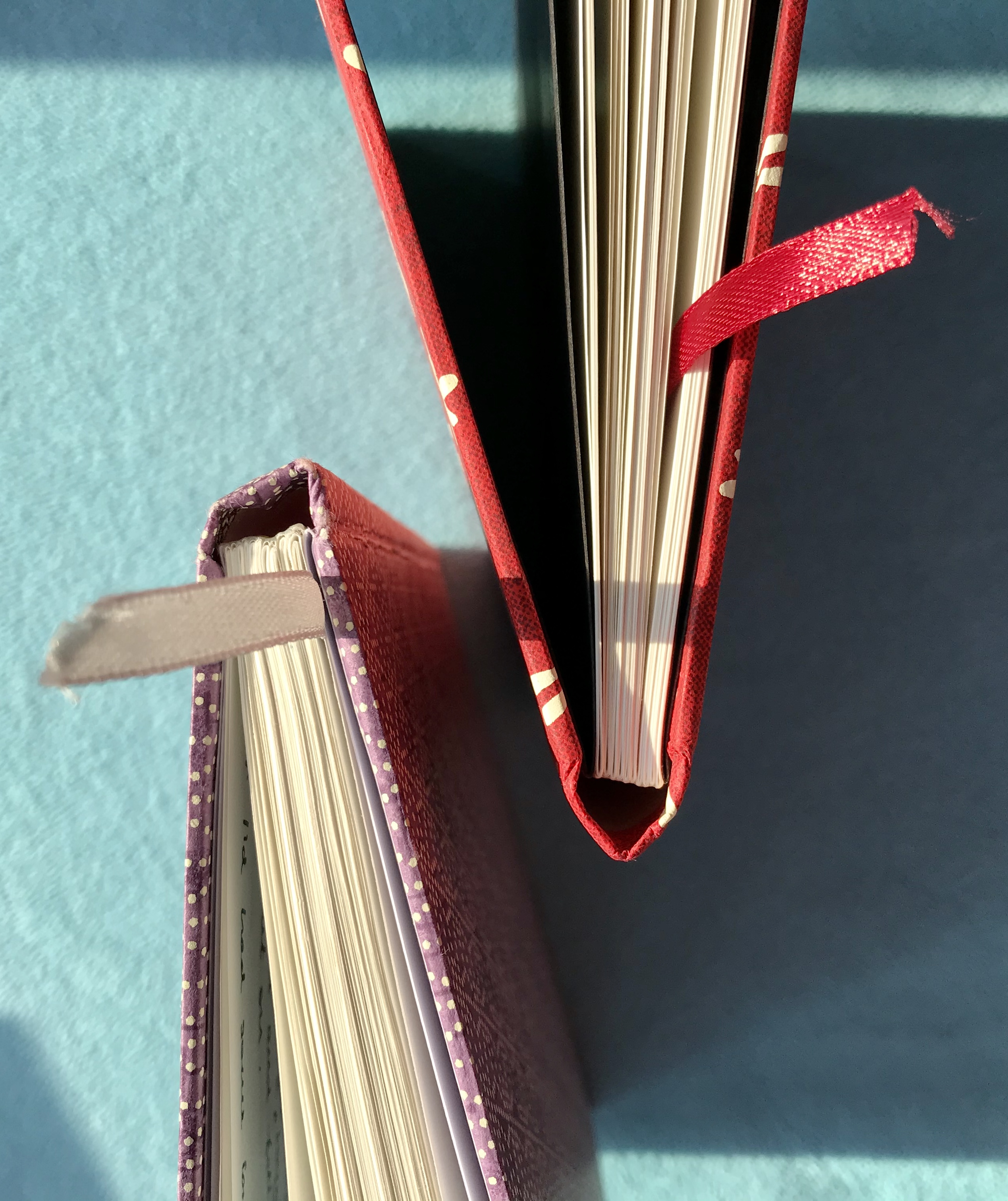 Detail of the notebook binding